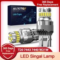 2 uds T20 W21/5W 7443, 7440 luz LED Canbus para Lada Kalina Granta Vesta DRL bombillas LED 12V 12V 6500K blanco Super brillante 3030 SMD 4014
