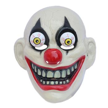 1 pc Halloween Mask Red Nose Clown Durable Horrible Party Mask Headgear Performance Props for Masquerade Carnival