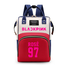 Blackpink Canvas Backpack Women's Korean Computer Bag School Backpack Shoulders Package Satchel Student Backpacks Casual