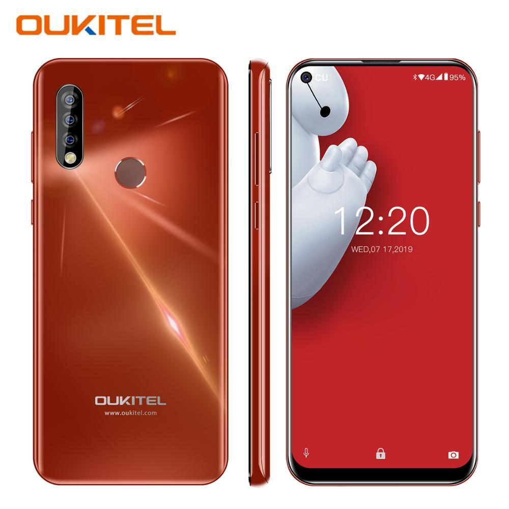"OUKITEL C17 Pro 6.35"" Android 9.0 Mobile Phone 19.5:9 MTK6763 Octa Core 4G 64G Dual 4G LTE Triple Camera Dual SIM Smartphone"