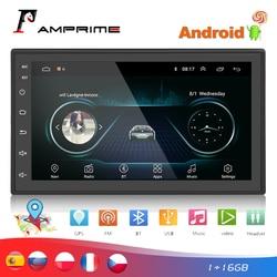 AMPrime 2 din Car Radio 7 Autoradio Android coche Multimedia GPS Bluetooth FM/USB/AUX MP5 jugador 2din estéreo de coche Monitor de marcha atrás