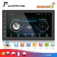 """Radio samochodowe AMPrime 2 din 7 """"Autoradio Android samochodowe multimedia GPS odtwarzacz FM/USB/AUX MP5 2din samochodowe stereo Backup Monitor"""
