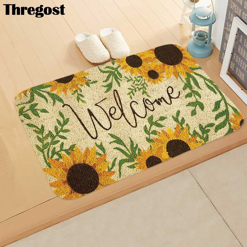 Welcome Mats For Front Door Carpet Kitchen Thin Entrance Mat Doormat Outdoor Home Decor Mat Kitchen Rugs Washable Shoes Carpet Aliexpress