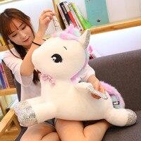 1PC 65/80cm Giant Fly Unicorn Soft Stuffed Plush Toy Cartoon Unicorn Dolls Animal Horse Toy High Quality Toys for Children Girls