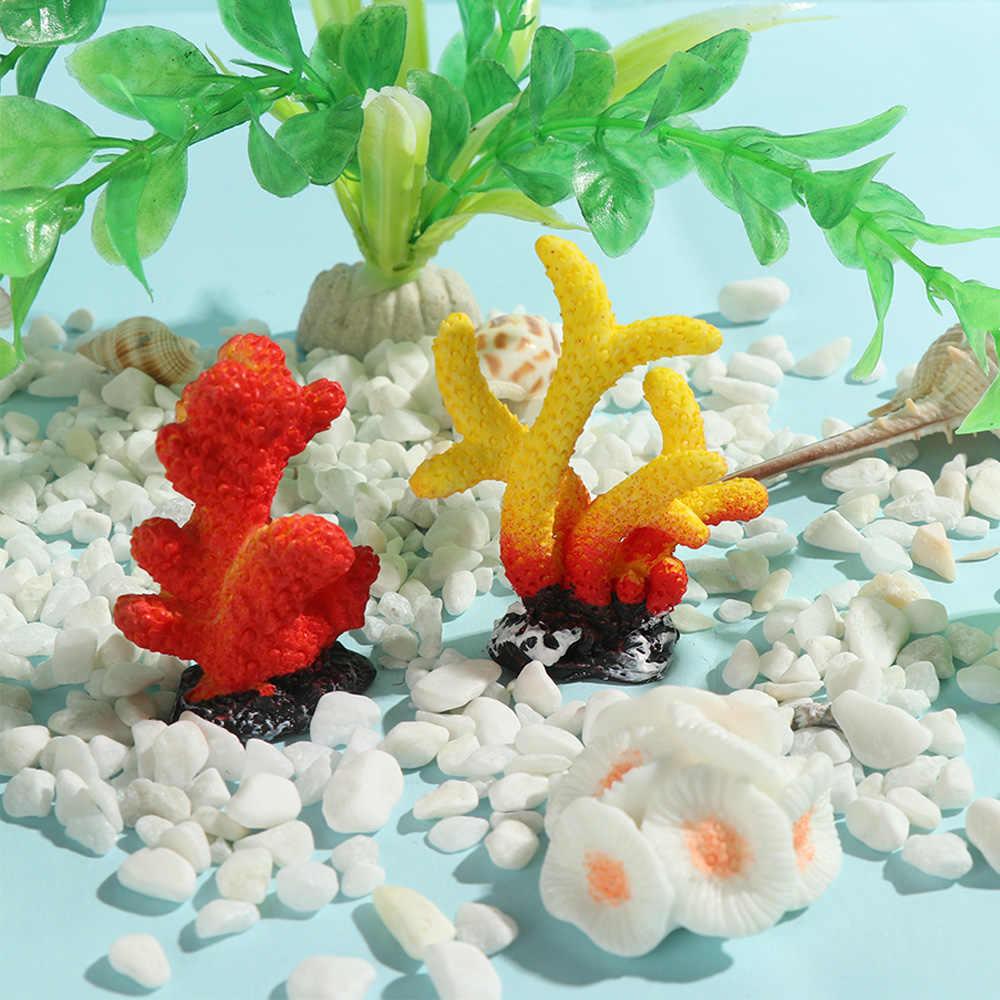 สวยงามประดิษฐ์ Coral จำลองปลาดาวเรซิน Reef ถังปลาเครื่องประดับตกแต่ง Aquarium เดสก์ท็อปประดับภูมิทัศน์ทำ