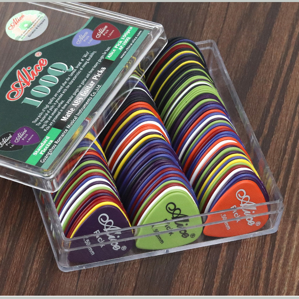 1set 30-50pcs Guitar Picks Alice Acoustic Electric Bass Pic Plectrum Mediator Guitar Accessories Thickness 0.58-1.5 mm mixed