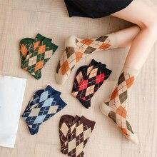 2021 женщины ретро носки осень зима +хлопок девушки мода стиль дышащий милый повседневный носки