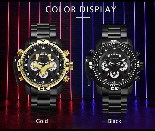 Top Brand Luxury Fashion Men Watches Quartz Watch Men Business Military Chronograph Wristwatch Relogio Masculino erkek kol saati 2