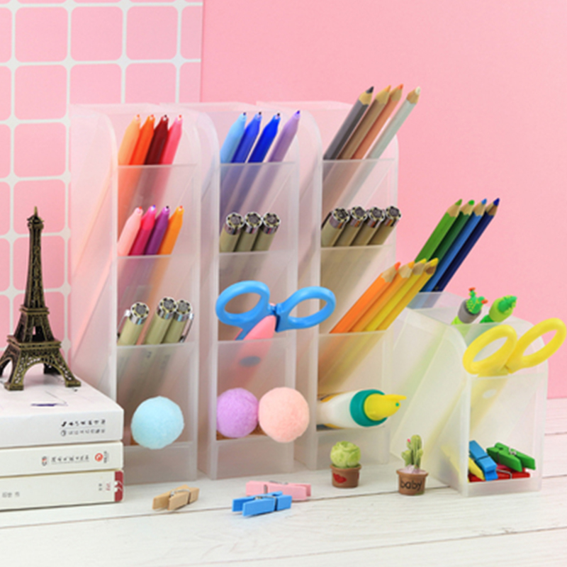 The Pen Holder Inserts Stationery Pupil's Store Thing To Wear Desk Mesa Face Plate Transparent Pen Holder Art Supplies Obviously