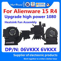 Laptop new CPU/Graphics Cooling Heatsink Fan Assembly For Dell Alienware 15 R4 ALW15 R4 Upgrade high power GTX1080 06VKKX 6VKKX