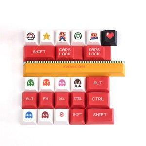 Image 4 - Sega Mario Keycap Cherry Profilo Originale 5 faccia di Sublimazione della TINTURA Copritasti Tastiera Meccanica 1.75U 2U 2.25U Del Cambio 6.25U Barra Spaziatrice