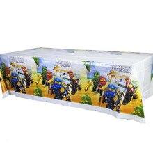 Ninjago тема для мальчиков или девочек день рождения поставки одноразовые столовые приборы 180*108 см 1 шт. скатерть