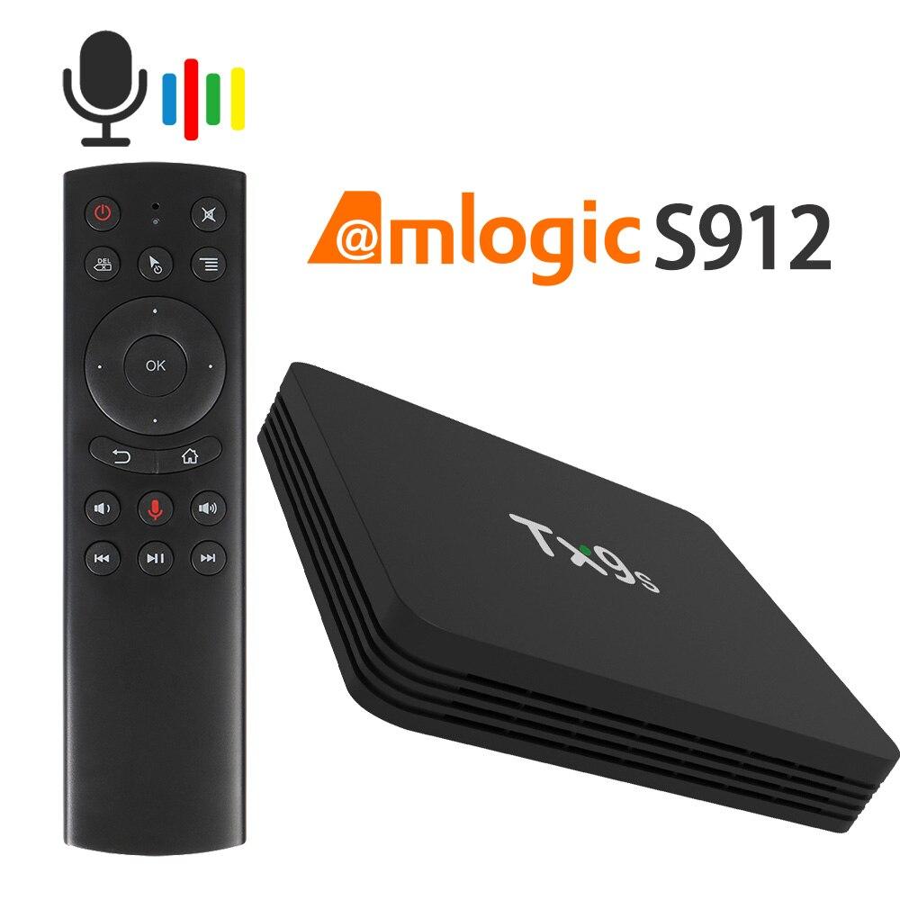 ТВ-приставка Amlogic S912 3D 4 K Android TX9s телеприставка 2,4G Wifi Youtube Google Box Play Store snelle телеприставка