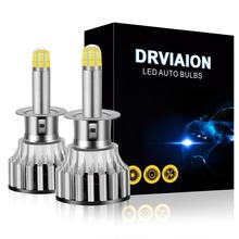 2pcs H1/H7/H8/H9/H11 9005 HB3 /9006 HB4 360 degree  3D CSP Chip 8Sides 24LED 120W Bulbs 6500K Illumination Car LED Headlights