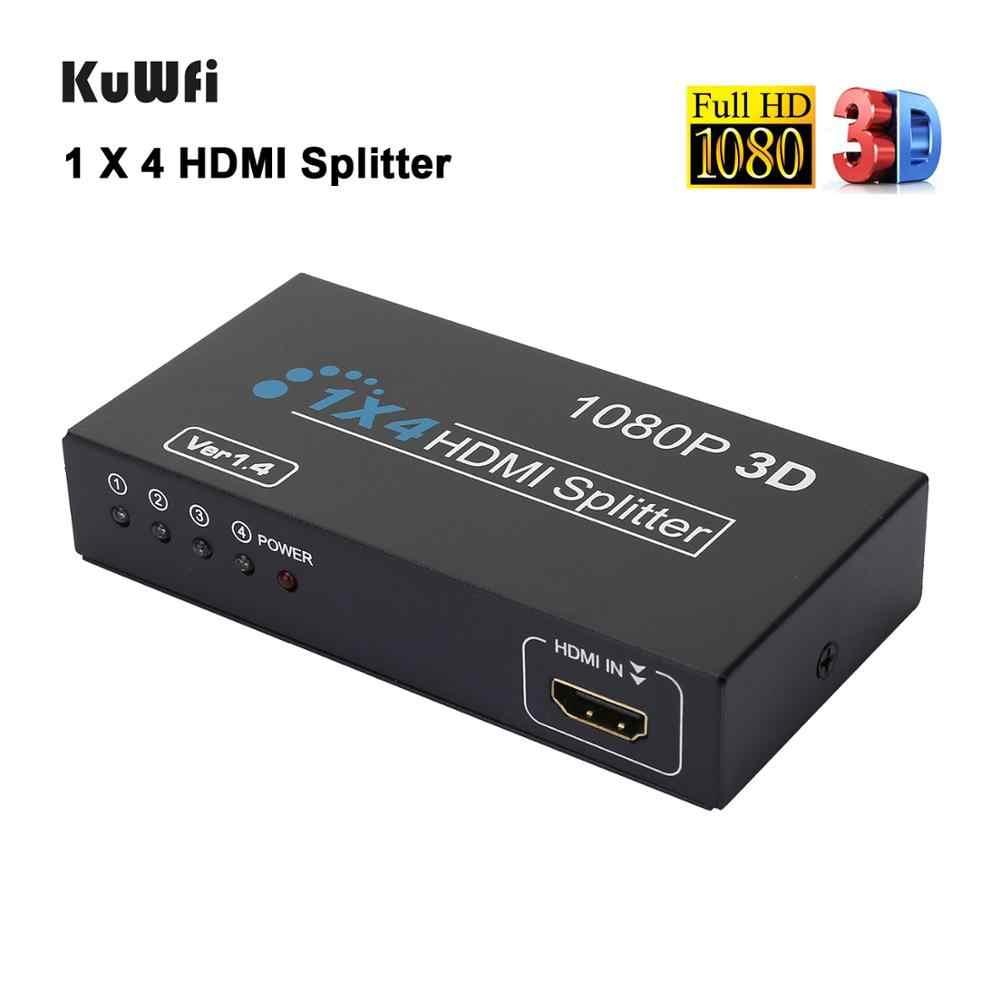 Hdmiスプリッタ 1 4 アウト 4 18kメタルhdmiスイッチャーでサポート 3D 4 18k 30 60hzフル超hd 1080 1080pのxbox用PS3/4 PS5 ニンテンドースイッチ