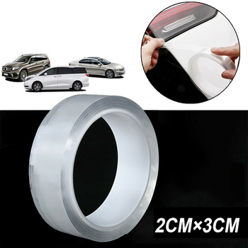 2cm * 3m borde de la puerta del coche pintura Anti arañazos tira transparente protectora película acrílica Material transparente gran dureza