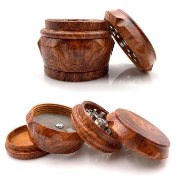 Czerwony drewniana dwoina żywica młynek do chwastów 4 warstwy maszyna młynek do ziół 40mm 1 57 cal tytoniu dym kruszarka ręczne narzędzia do palenia tanie i dobre opinie vmiss CN (pochodzenie) Gift Box mini wooden grinder Wooden Resin