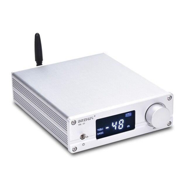 ใหม่VOL 01 HIFI NJW1194บลูทูธ5.0 AptxรับRemote Preamplifier 5 Way Pre Amp LEDจอแสดงผล