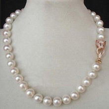 "free shipping noble jewelry 18"" 9-10MM GENUINE PEARL NECKLACE DIY women hot sale jewelry jj(China)"