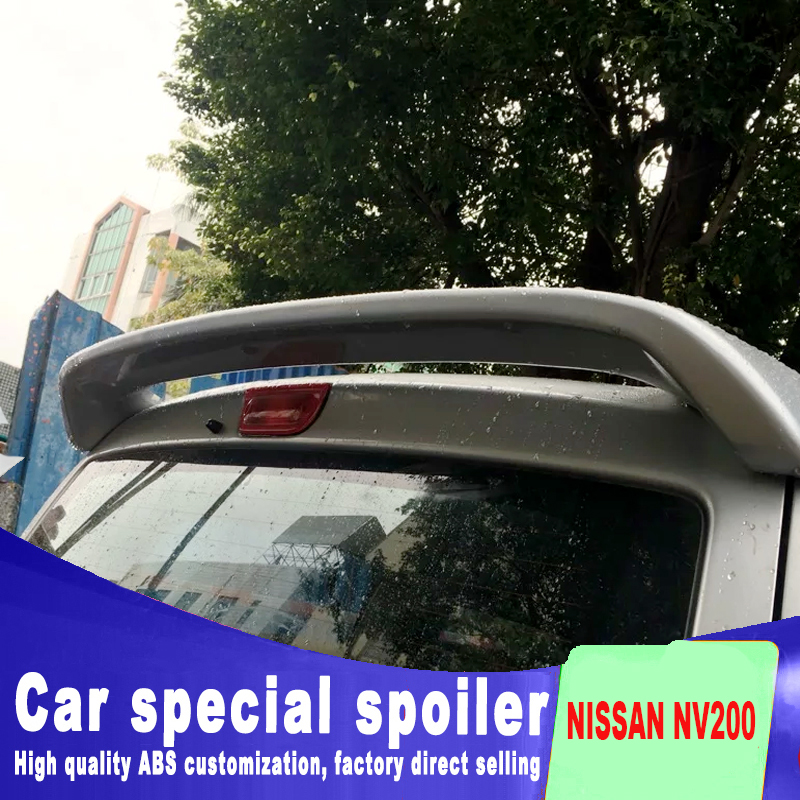 easy Punching installation High Quality ABS Material Spoiler For 2010 2012 2013 2014 2015 nissan NV200 Spoiler by primer paint|Spoilers & Wings| |  - title=