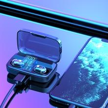 Mini Wireless Headphones Earphones Bluetooth TWS Touch Control With Microphone S