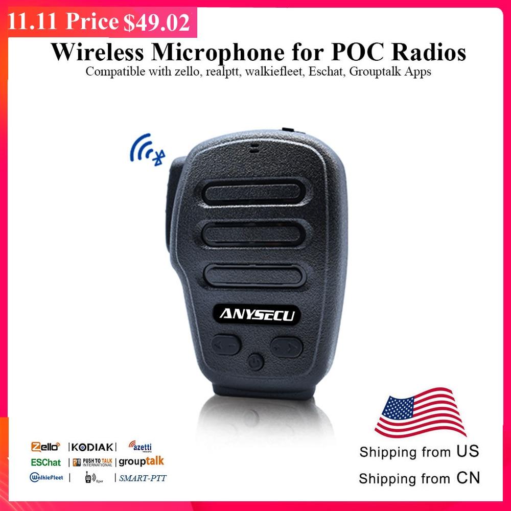 Anysecu Bluetooth Microphone B03 For POC Radios F25 F22 A18 A17 7S+ T320 4G-W2PLUS 3G 4G Network Radio Zello Android Phone Radio