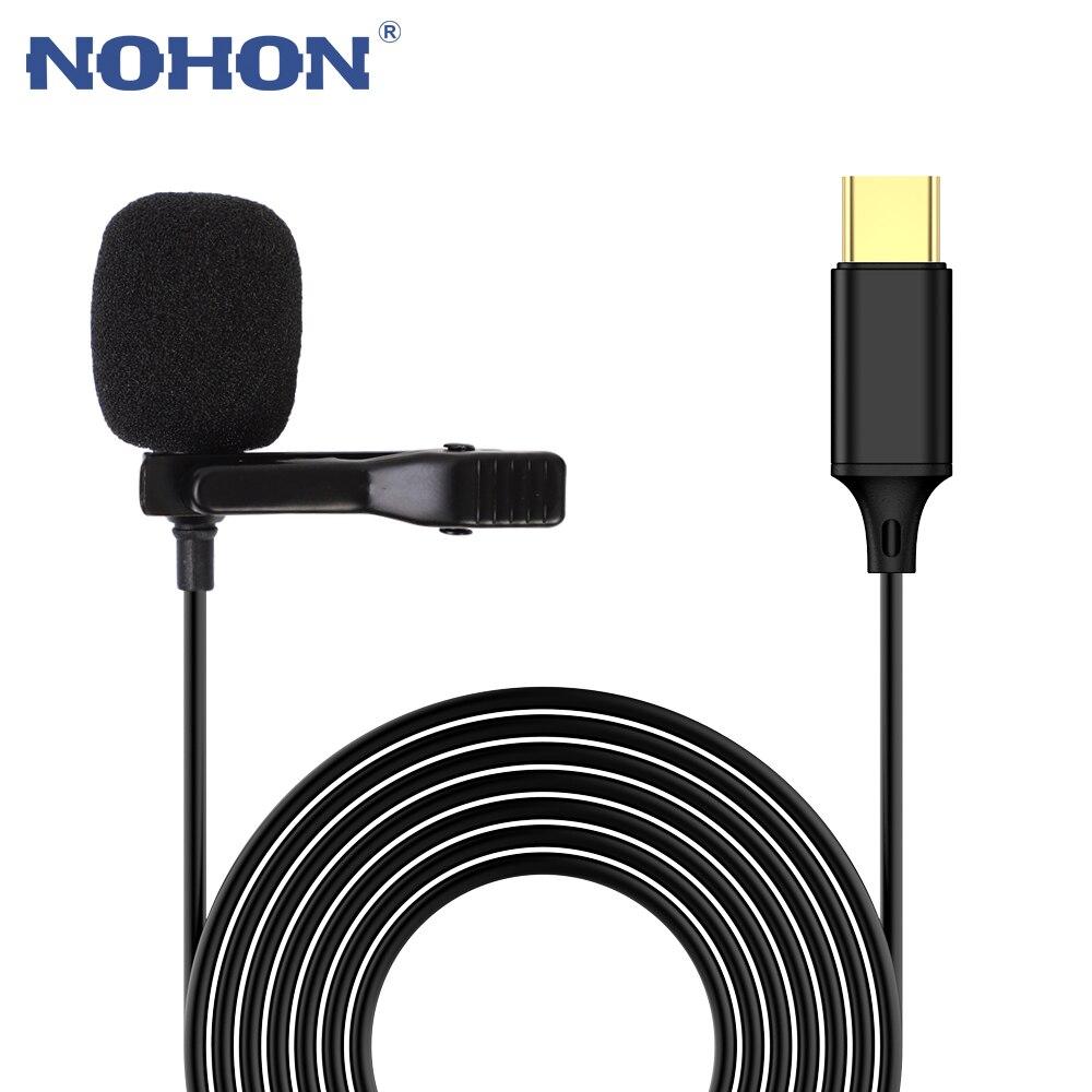 Конденсаторный мини-микрофон Nohon USB Type-C для Samsung Huawei Xiaomi mi