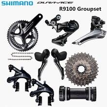 SHIMANO R9100 Groupset DURA ACE R9100 9000 Derailleurs כביש אופניים 11 25 11 28 11 30T 50  34 52 36 53 39T 165 170 172.5 175mm