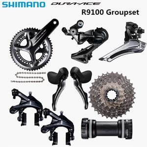 Image 1 - SHIMANO R9100 Groupset DURA ACE R9100 9000 Derailleurs כביש אופניים 11 25 11 28 11 30T 50  34 52 36 53 39T 165 170 172.5 175mm