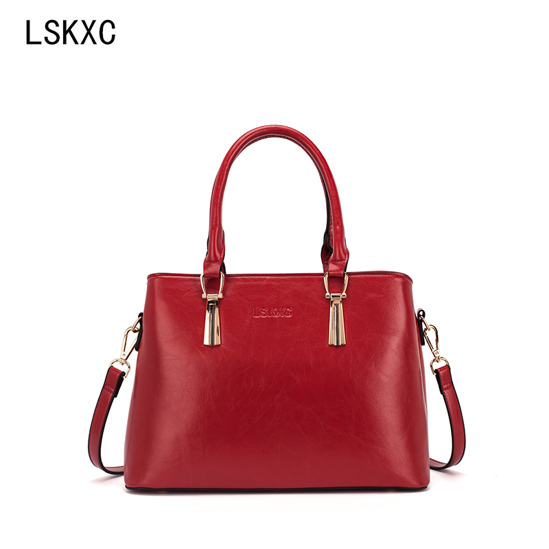 LSKXC ladies shoulder bag fashion ladies handbag large capacity tote bag casual Pu leather ladies crossbody bag-in Shoulder Bags from Luggage & Bags