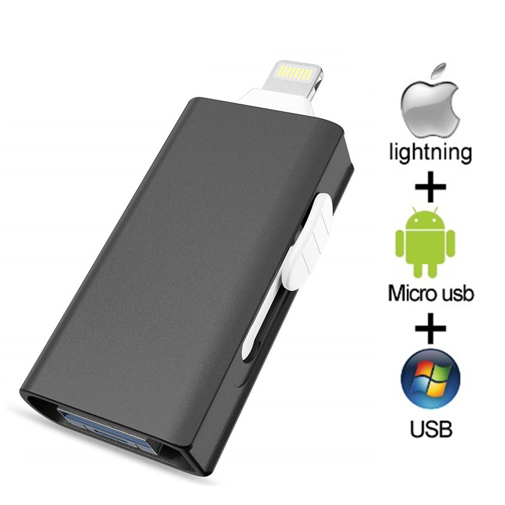 OTG USB Flash Drive Lightning Memory Stick 16GB 32GB 64GB 128GB 512 GB Pen Drive For IPhone/iPad/Android/PC For IOS Pendrive 3.0