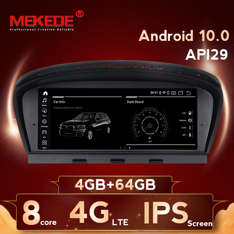 Android10 8 cores 4GB+64GB Car stereo head unit navigation GPS radio player for BMW 5Series E60 E61 E63 E64 E90 E91 E92 CCC CIC image
