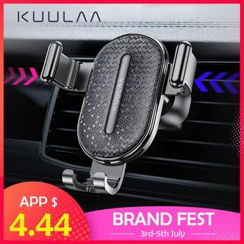 KUULAA soporte de teléfono para coche soporte de gravedad soporte de móvil soporte de montaje de teléfono para coche soporte para iPhone Samsung Xiaomi