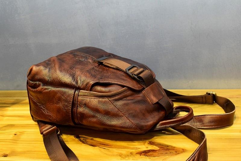 Retro feminina designer mochila de alta qualidade