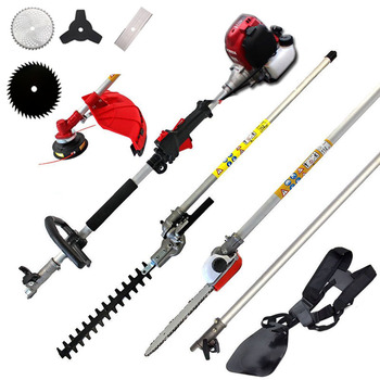 New High Quality Brush Cutter Grass 6 in1 with GX35 4 stroke Petrol Engine Multi Strimmer Hedge trimmer Tree cutter - discount item  24% OFF Garden Tools