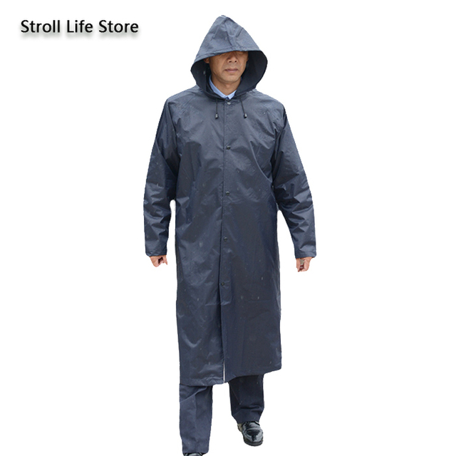 Work Outdoors Long Raincoat Body Large Rain Poncho Men and Women blue Jacket Waterproof Suit for Fishing Gabardina Hombre Gift