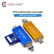 2in1 usb type c multi Smart memory card reader OTG type-c adapter mini cardreader for micro SD/TF SD computer Laptop