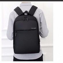 Новые модные деловые повседневные Рюкзаки черные качественные дорожные сумки мужские сумки на плечо легкие повседневные простые дикие сумки Сумка для компьютера
