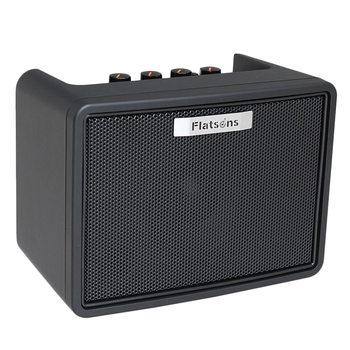 Flatsons Guitar Amplifier Speaker Built-In Mini Amp Electric Guitar Bass Rhythm Support Tap Tempo Function with Power Adapter Fg