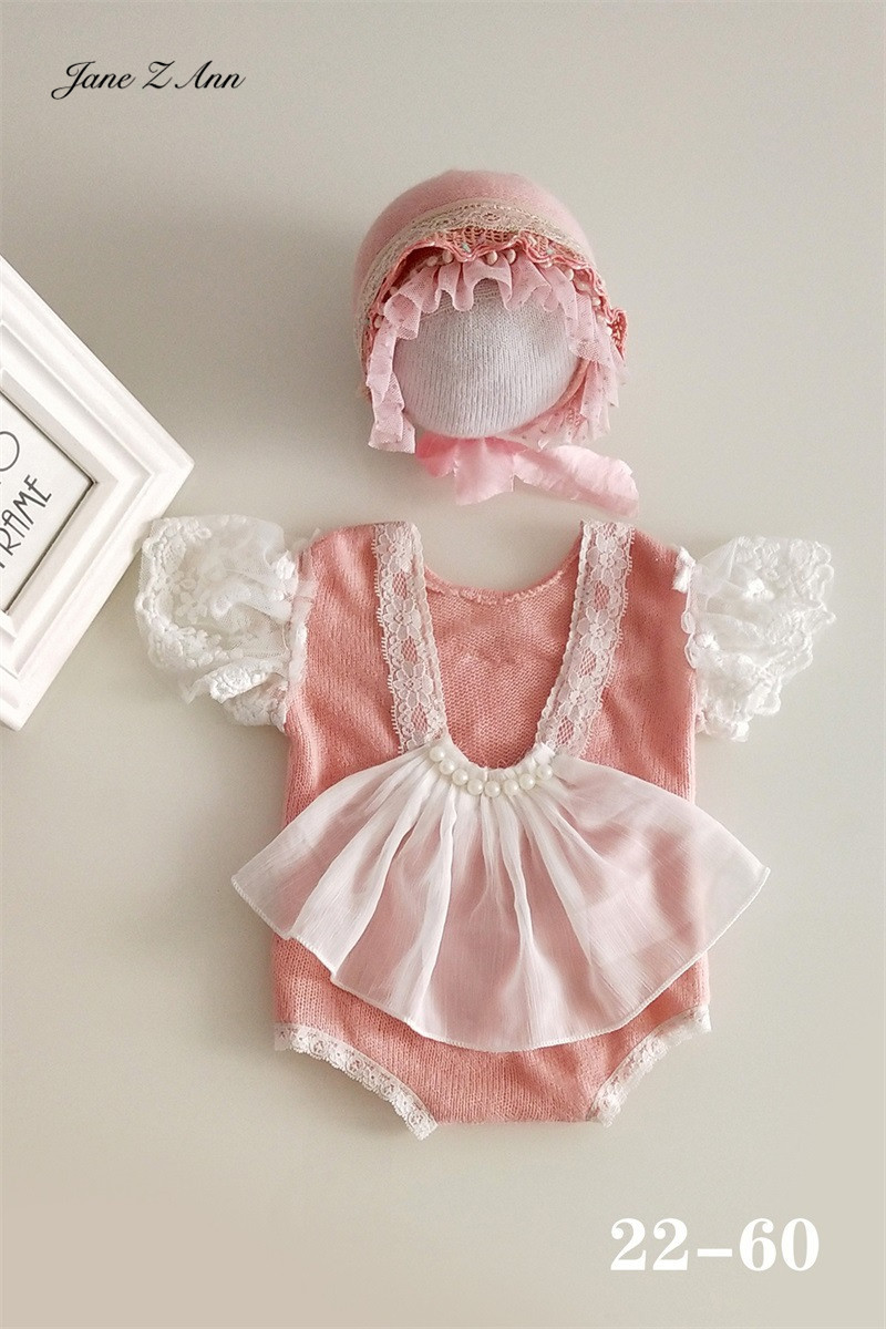 Jane Z Ann 2020 New Style Infant boy girl twins studio shooting outftis Newborn/3-6 month Baby Theme Costume Props Photo 2
