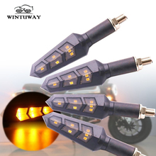 WINTUWAY 6LED Motorcycle Turn Signal Lights Amber Lamp Left Right Indicators Accessories
