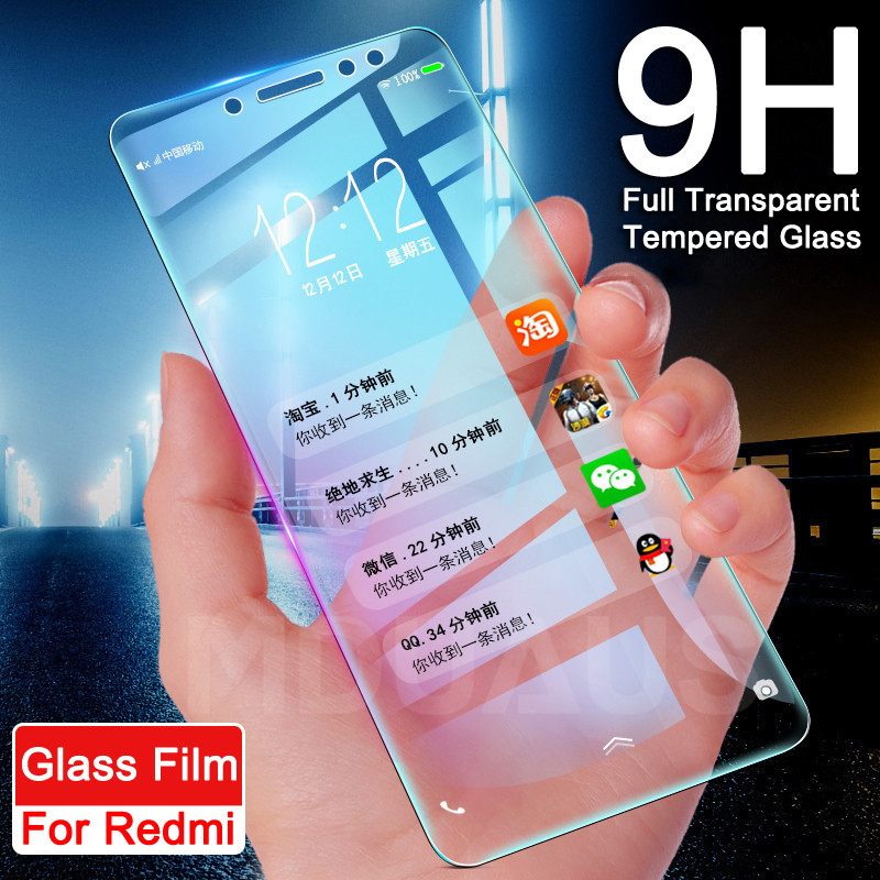 9H Tempered Glass On The For Xiaomi Redmi Note 4 4X 5 5A Pro Redmi 5 Plus 5A S2 4 4X 4A K20 Pro Screen Protector Protective Film
