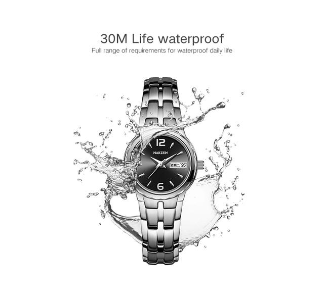 Часы наручные nakzen Мужские кварцевые брендовые Роскошные водонепроницаемые