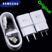 Cargador de Samsung adaptable adaptador de cargador rápido tipo C/Micro cable para s8 a8 s10 a7 A6 a40 A9 a50 nota 9 4 5 10 a80 J7 S6 S7 borde