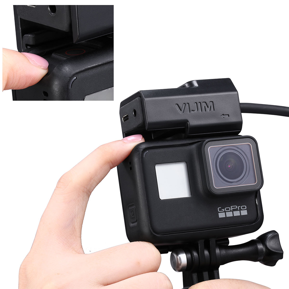 Vlog Battery Mic Adapter For Gopro 5 6 7 Cold Shoe Mount Adapter for Original Gopro Case Microphone Bracket GoPro Accessories
