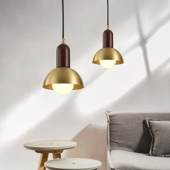 Glass ball decorative chandelier Post modern Luxury bronze light Bedroom Lamp machine head Living room Coffee shop