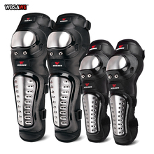 WOSAWE Adult Motorcycle Knee Pads Stainless Steel Knee Guards  Moto Racing Knee Protective Gear Kneepads and Elbowpads Kit 1 pair protective cycling guards waterproof gear safety adjustable equipment riding thicken warm motorcycle knee pads pu racing