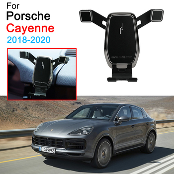 Car Mobile Phone Support Air Vent Mount Bracket Cell Phone Holder for Porsche Cayenne Accessories 2018 2019 2020 image