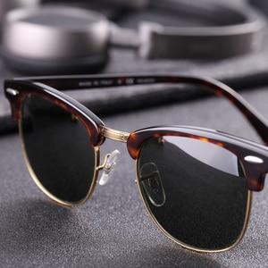 Image 4 - زجاج عدسة الكلاسيكية نظارات شمسية كلاسيكية الرجال النساء الفاخرة العلامة التجارية تصميم نظارات نظارات شمسية أنيقة ظلال gafas oculos دي سول 3016