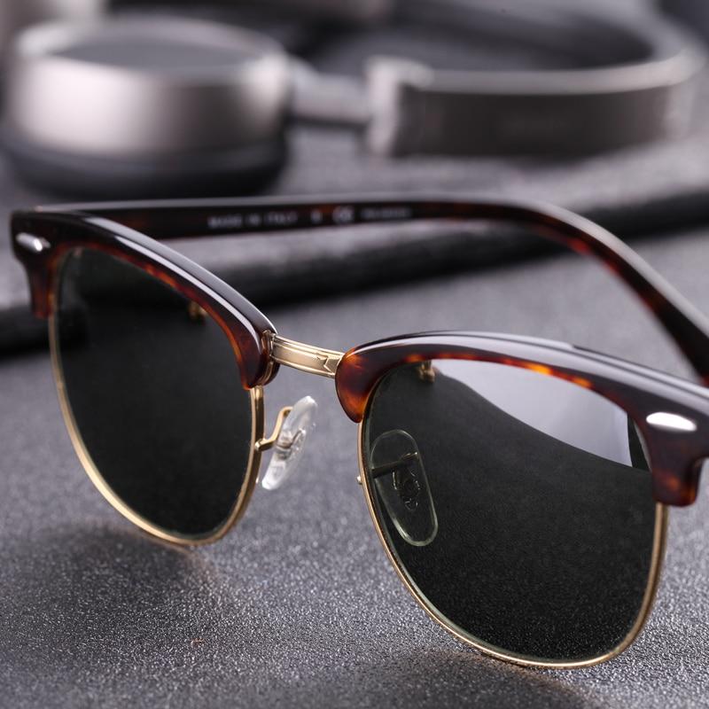 Image 3 - Glass lens Classic retro sunglasses men women Luxury Brand Design Goggles Elegant Sun glasses Shades gafas oculos De Sol 3016-in Women's Sunglasses from Apparel Accessories on AliExpress